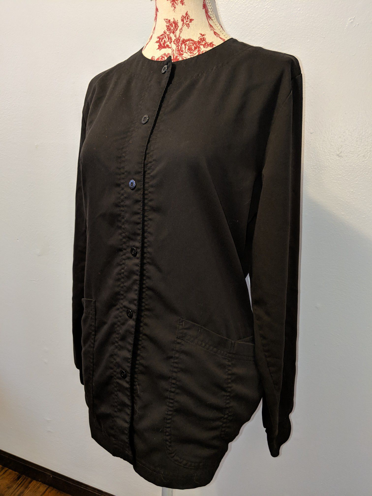 Medium Size- All Black Grey's Anatomy Scrub Jacket