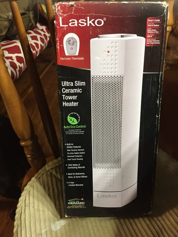 New Lasko Ultra Slim Ceramic Tower Heater for Sale in Pfafftown, NC -  OfferUp