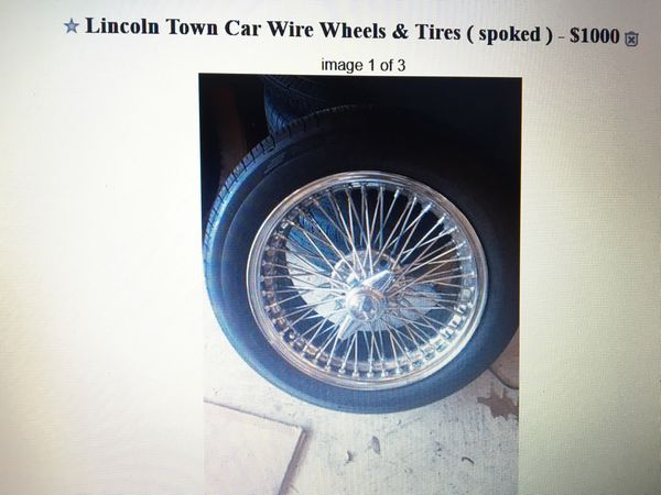 Lincoln Town Car American Racing Aluminum Wheels Tires For Sale In