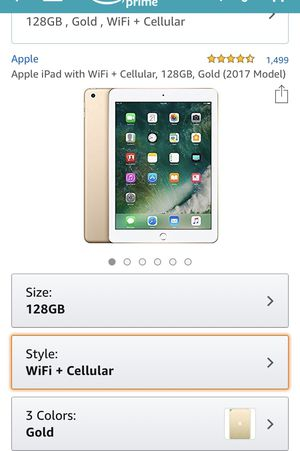 Brand New Apple Tablet 128gb, Gold. Latest Software for Sale in North Miami, FL