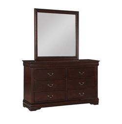 Brand New Louis Philip Cherry Sleigh Bedroom Set  🦋Queen King Twin Full 🦋 Bed Dreser Miror İncludes Nightstand🦋SAME-DAY FREE DELIVERY  Thumbnail