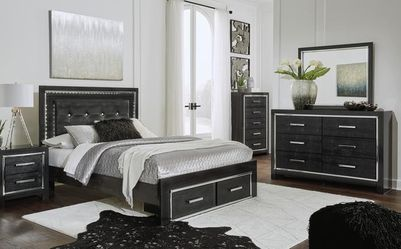 SPECIAL] Kaydell Black LED Storage Bedroom Set by Ashley🌾🌾Same Day Delivery 👍On Display  Thumbnail
