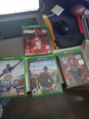 Xbox One Games (for sale or trade) for sale  Jenks, OK
