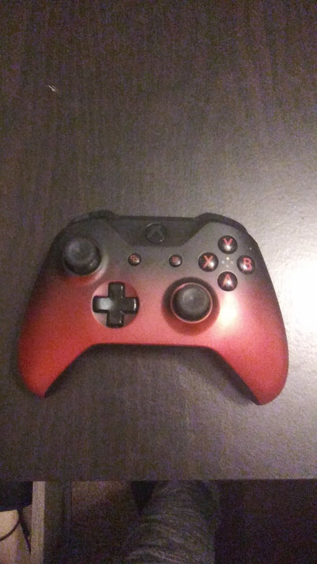 Xbox one controller lava red and black