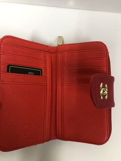 Red Leather Double Sided Wallet Thumbnail