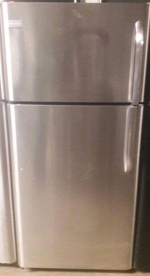 NEW- Stainless Steel Frigidaire Refrigerator - WARRANTY, works like new for Sale in Atlanta, GA