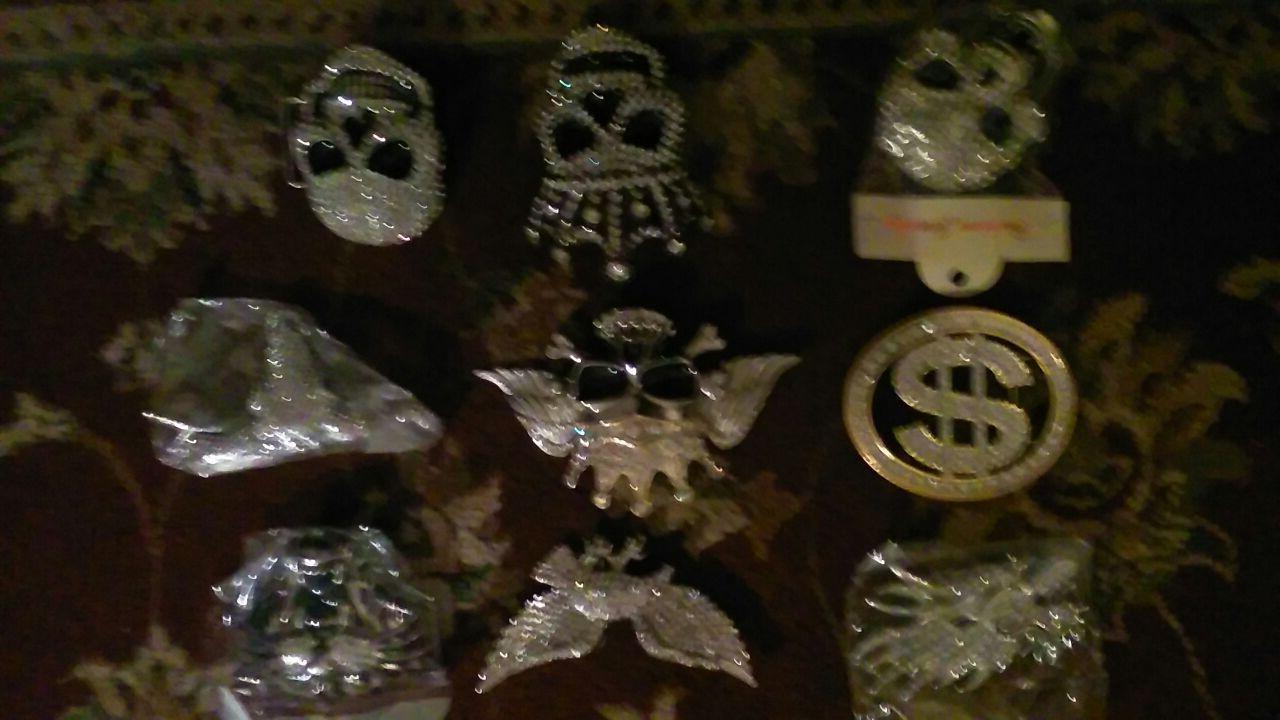 Diamond Skull head belt buckle