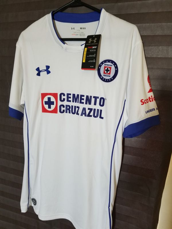 Mens Authentic Under Armour Cruz Azul Away Jersey for Sale in ... 66b8f795f