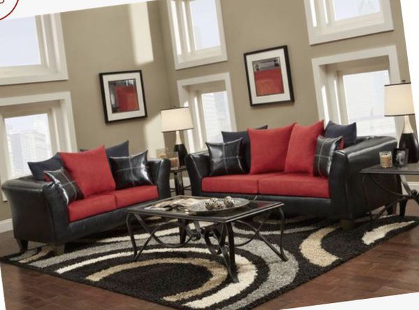 New red couch and Loveseat set! Sofa sectional saves ...