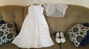Girls size 7 Wedding Flower Girl dress, and Jacket for Sale in St. Louis, MO