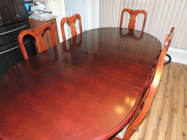 Hardwood Cherry Dining Table W 6 Chairs For Sale In Salem Or Offerup