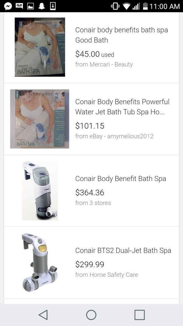 Conair body benefits powerful water jet bath spa for Sale in Dallas ...