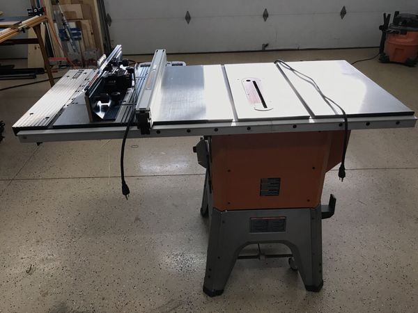 Ridgid r4512 table saw with bosch ra1181 router table attached for 400sold greentooth