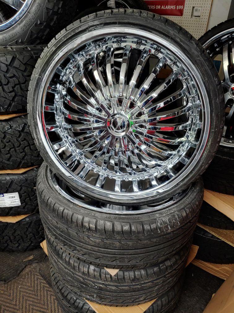 Brand new 22 chrome & tires. $10 take home LAYAWAY. Ulohos 2940 N Keystone M-Sa
