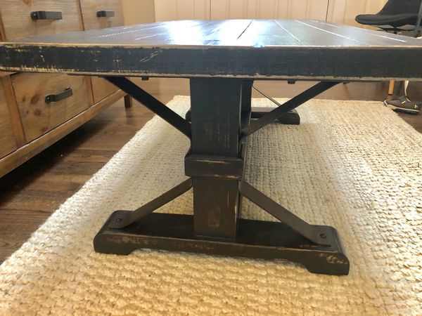 Black Distressed Farmhouse Coffee Table Furniture In