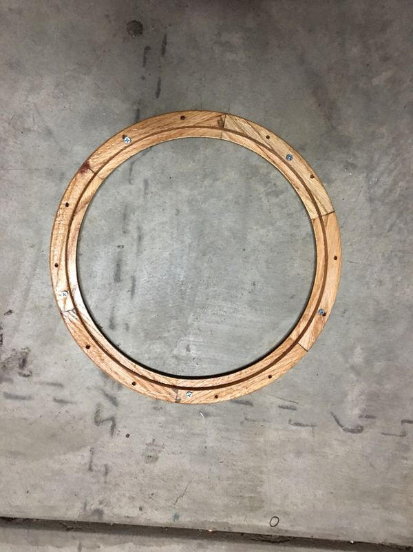 Wood grain steering wheel ring for lowrider or hot rod for