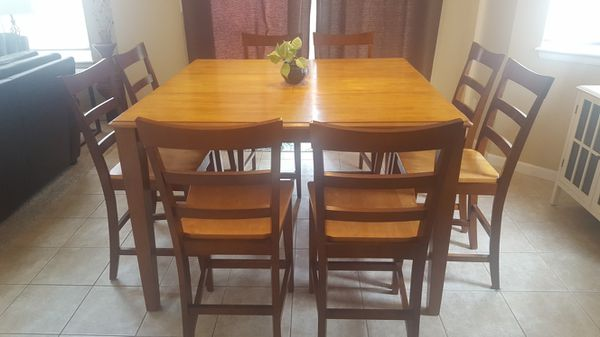 Counter height diningkitchen table with 8 chairs furniture in counter height diningkitchen table with 8 chairs furniture in parker co offerup workwithnaturefo