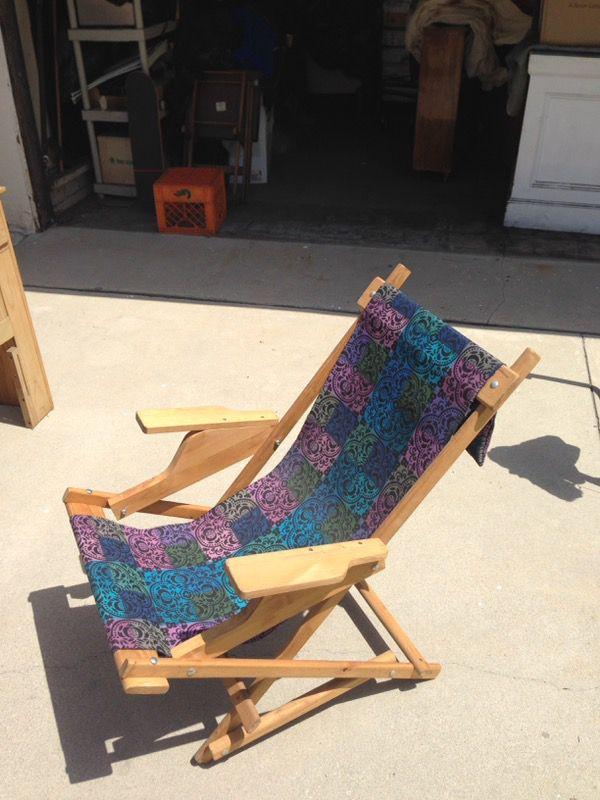 Wooden Sling Chair Rocker