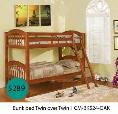 Bunk bed twin over twin