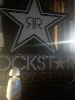Rockstar energy light works perfect great for bedroom garage or man cave no cracks its perfect Thumbnail