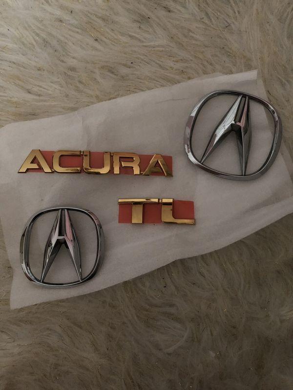 Gold Acura Tl Emblems 04 08 New Regular Chrome Used