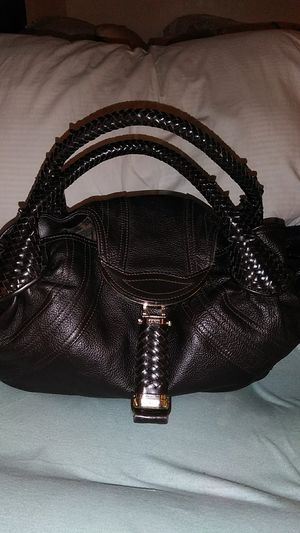 9990745c4 Fendi Spy Leather Hobo Bag Woven Handles Deep Choc. Brown Large for Sale in  Tucson