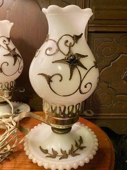 Milk Glass Lamps Thumbnail
