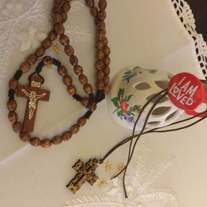 Catholics Rosary & Cross necklace 💒 for Sale in Alexandria, VA