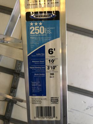 Werner ladder for Sale in East Haven, CT