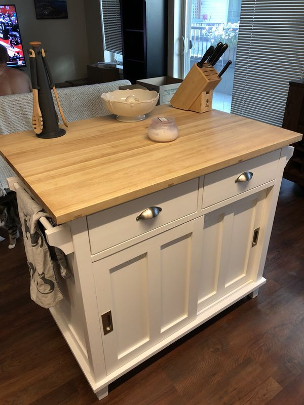 Kitchen Island - Crate & Barrel Belmont Kitchen Island for Sale in Seattle,  WA - OfferUp