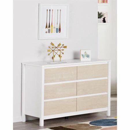 Novogratz Addison 6 Drawer Dresser New In Box White Natural For