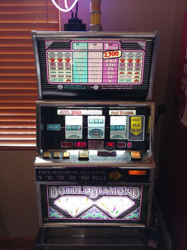 Double diamond slot machine with stand and chair for Sale ...