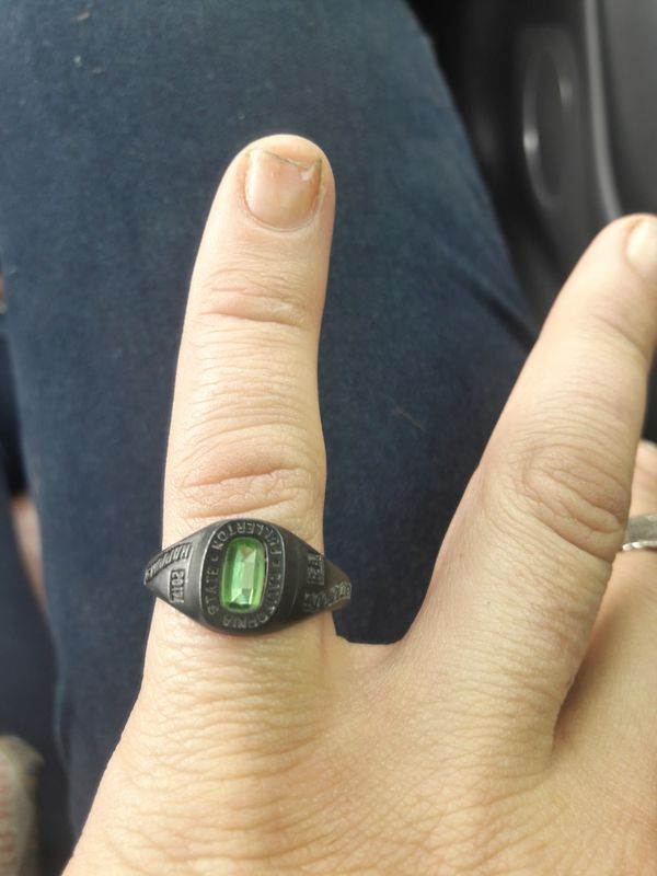 College Ring  From jostens black lustrium 8 5 for Sale in