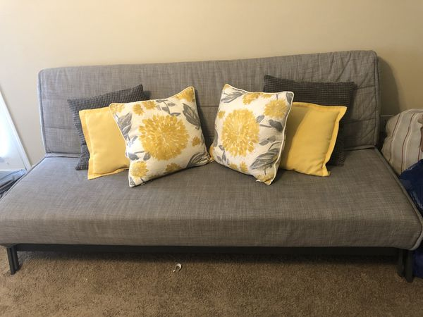 Prime Ikea Karlaby Sofa Bed Futon With Detachable Grey Cover Used Ibusinesslaw Wood Chair Design Ideas Ibusinesslaworg
