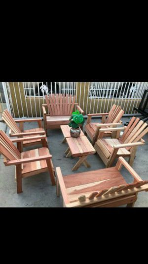 Photo Get ready for the summer with this beautiful outdoor wood furniture for your patio set up