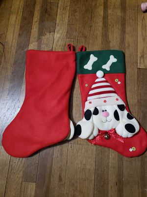 NWOT ADORABLE Doggie Christmas Stockings for Sale in Mundelein, IL