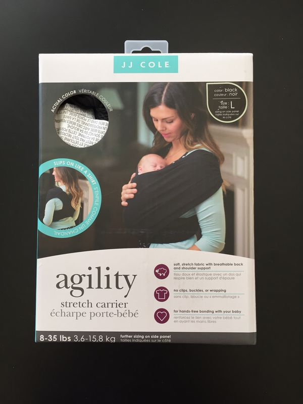 New Jj Cole Agility Stretch Baby Carrier Black Sz L For Sale In Lomita Ca Offerup
