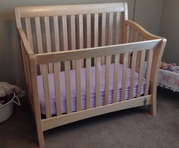 Baby Cache Uptown Crib Natural Color With Toddler Rail For Sale In