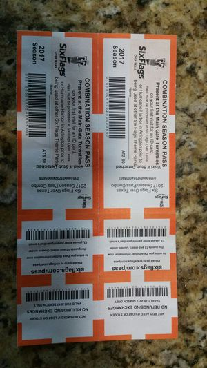 Two Combination Season Passes for Six Flags and Hurricane Harbor for Sale  in North Richland Hills, TX - OfferUp