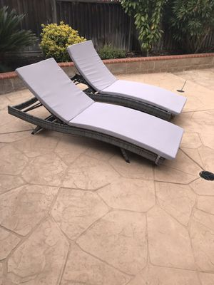 New and Used Patio furniture for Sale - OfferUp Chaise Lounge Chairs Las Vegas on plastic lounge chairs, leather lounge chairs, accent chairs, pool chairs, leopard print chairs, beach lounge chairs, relaxing chairs, rattan lounge chairs, outdoor lounge chairs, bedroom chaise chairs, living room chairs, adirondack chairs, office chairs, wicker chairs, dining chairs, cool chairs, high back lounge chairs, oversized chairs, chaise beach chairs, indoor lounge chairs,