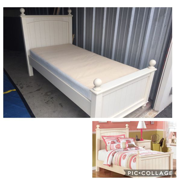 Beautiful Ashley Furniture Twin Bed Frame W Box Spring Good
