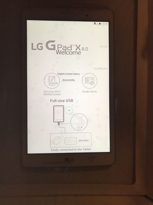 New LG table 32 GB Wi-Fi +4G LTE Cellular Unlocked for Sale in Gaithersburg, MD