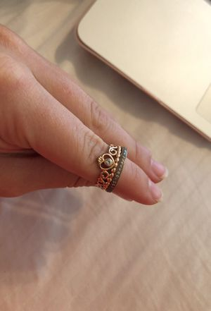 39846185a ... promo code pandora rose gold princess ring and band 6.5 for sale in  joshua tx f49cd