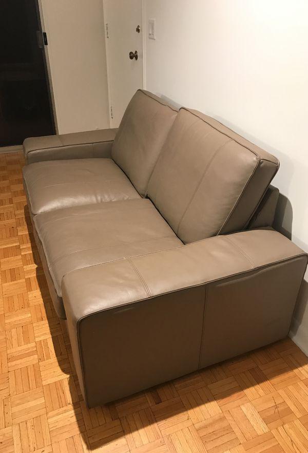 Ikea kivik loveseat leather couch sofa (Furniture) in Park Ridge, IL ...