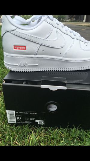 Photo Supreme Nike air forces 8.5 White