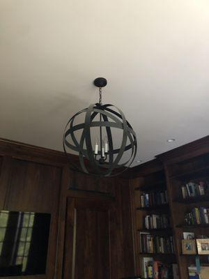 Black Orb Chandelier - 3 lights for Sale in Falls Church, VA