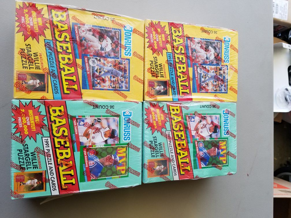 Factory sealed baseball cards 1987-1993 cases $10 -$20 per case special today only