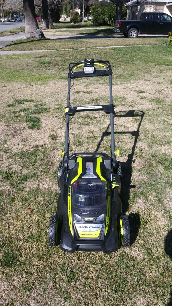 Ryobi Brand New 40 Volt Lithium Self Propelled Lawn Mower For Sale