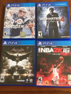 Four Sony PS4 Games for Sale in Ashburn, VA