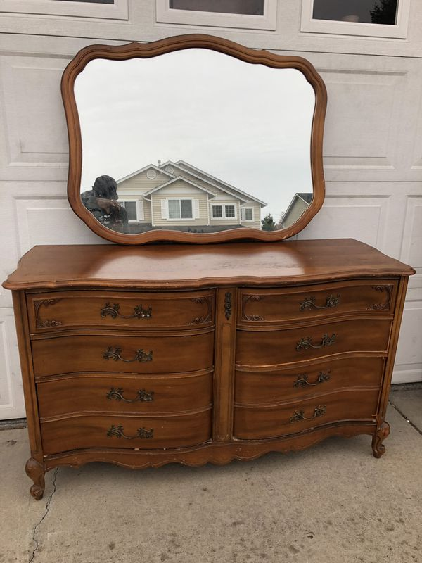 Bassett Furniture French Provincial Solid Wood 2 Piece Dresser For
